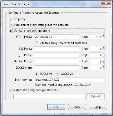 setting proxy