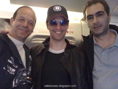 На фото: Фокас Евангелинос, Сакис Рувас и Илиас Ледакис
