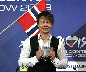 На фото: Победитель Евровидения 2009 года. Александр Рыбак (Alexander Rybak)