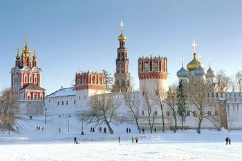 Novodevichy Convent in snow