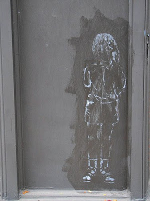 ghost girl graffiti