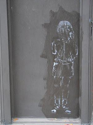 ghost girl graffiti