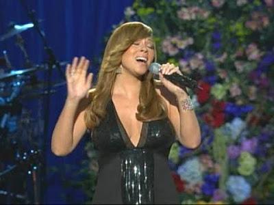 Mariah Carey cantando I'll be There