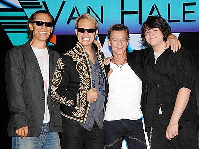 Van Halen: Eddie, Alex, David y Wolfgang