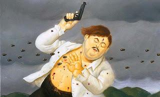 Pablo Escobar por Botero