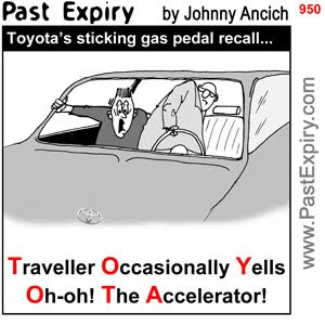[CARTOON] Toyota.  images, pictures, cartoon, crash, news, rides, recall, safety, cars