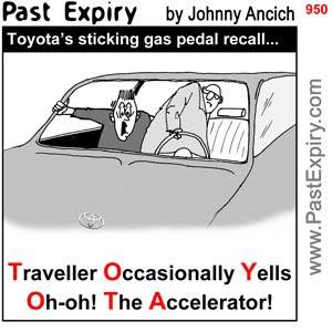 [CARTOON] Toyota.  images, pictures, cartoon, crash, news, rides, recall, safety, cars