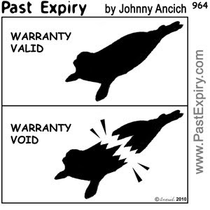 [CARTOON] Warranty Void.  images, pictures, cartoon, animals, pun, warranty, void