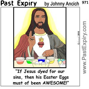 [CARTOON] Easter Eggs for Jesus.  images, pictures, cartoon, Easter, food, holiday, religion, pun