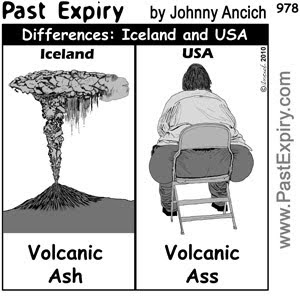 [CARTOON] Difference between Iceland and USA.  images, pictures, cartoon, diet, food, diarrhea, health, illness, men, women, US,