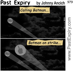 [CARTOON] Batman on Strike!.  images, pictures, cartoon, superhero, crime, law, spoof, work,