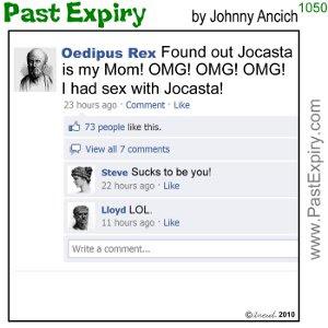 [CARTOON] Oedipus Rex on Facebook. cartoon, Facebook, relationships, social networking, tragedy,