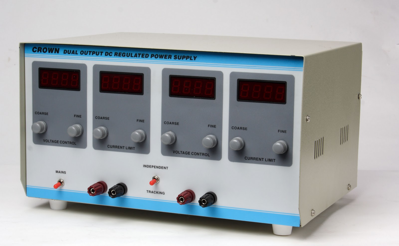 Dual Output Dc Regulated Power Supply 0 30v 2a Manufacturers Crown Made Are Constant Voltage Current Limit Type Supplies Have High Regulation For Load Line