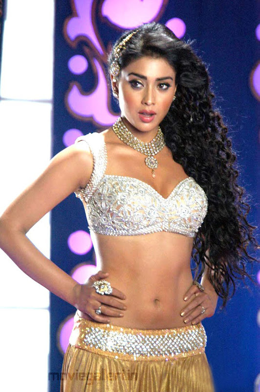 Shriya Saran Hot Pics in Komaram Puli Komaram Puli Shriya Hot Item Song Stills cleavage