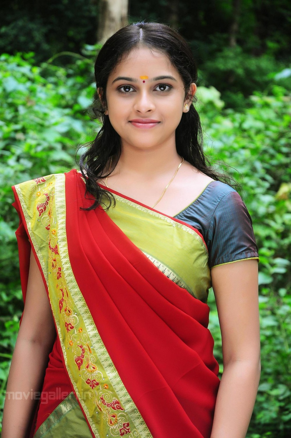 Telugu Actress Sri Divya in Saree Stills.