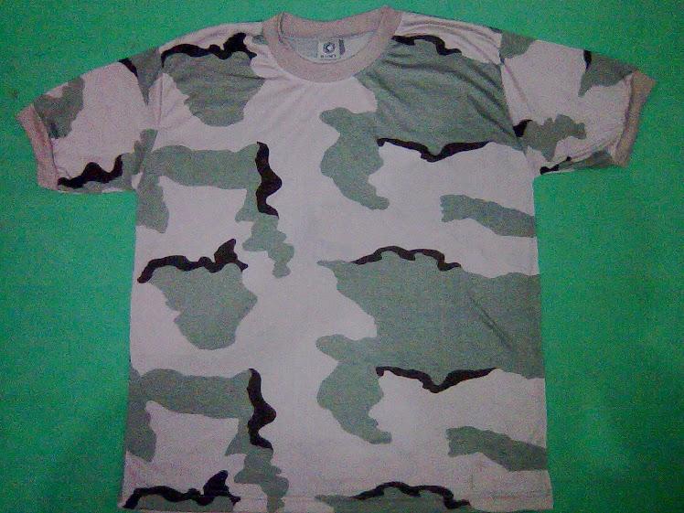 Kaos Oblong Loreng Gurun/Teluk