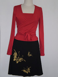 Eclipse Couture wrap blouse with a butterfly skirt