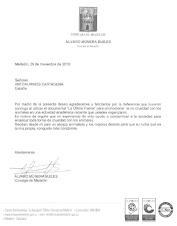 Carta de Álvaro Múnera a Antitaurinos Cartagena: