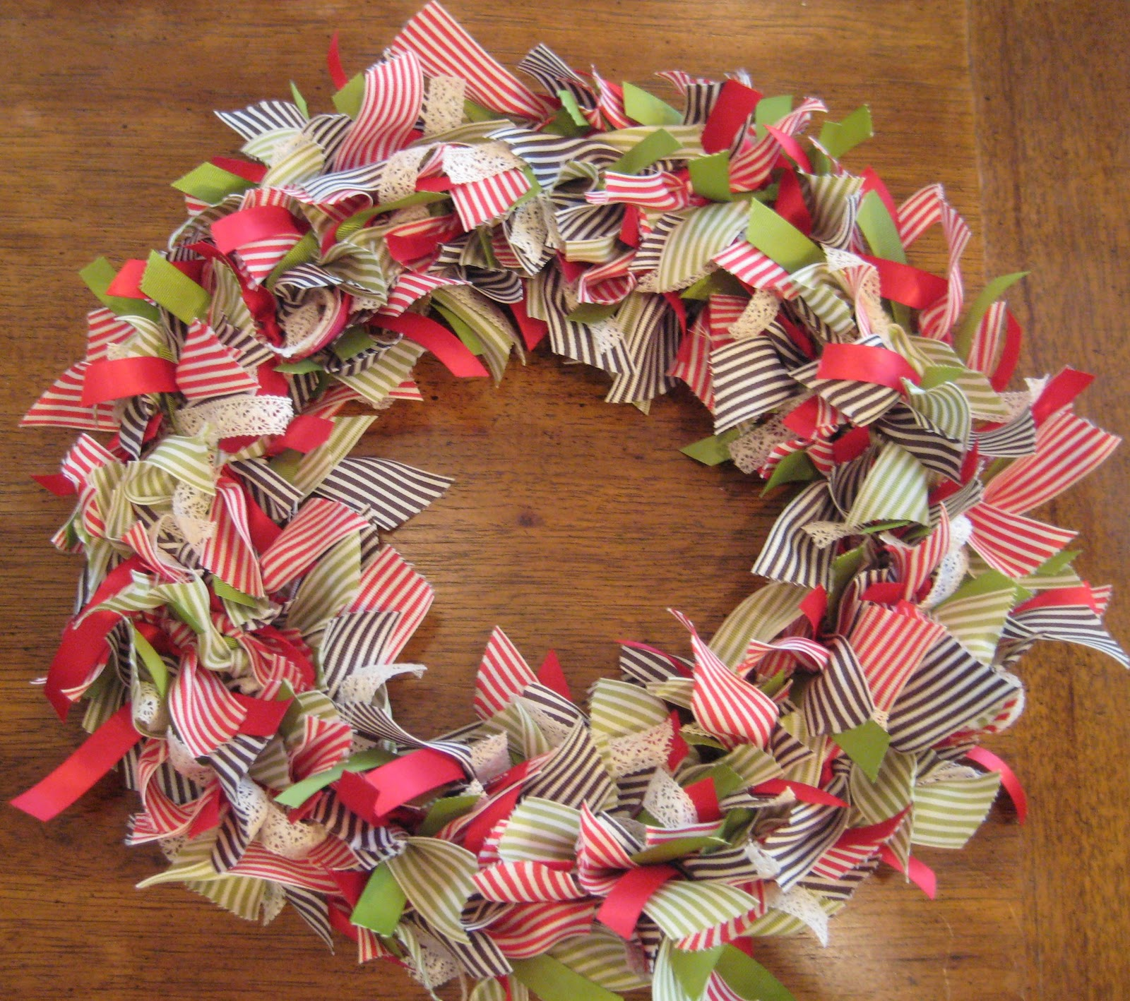 Goin 39 over the edge a ribbon wreath for christmas Making wreaths