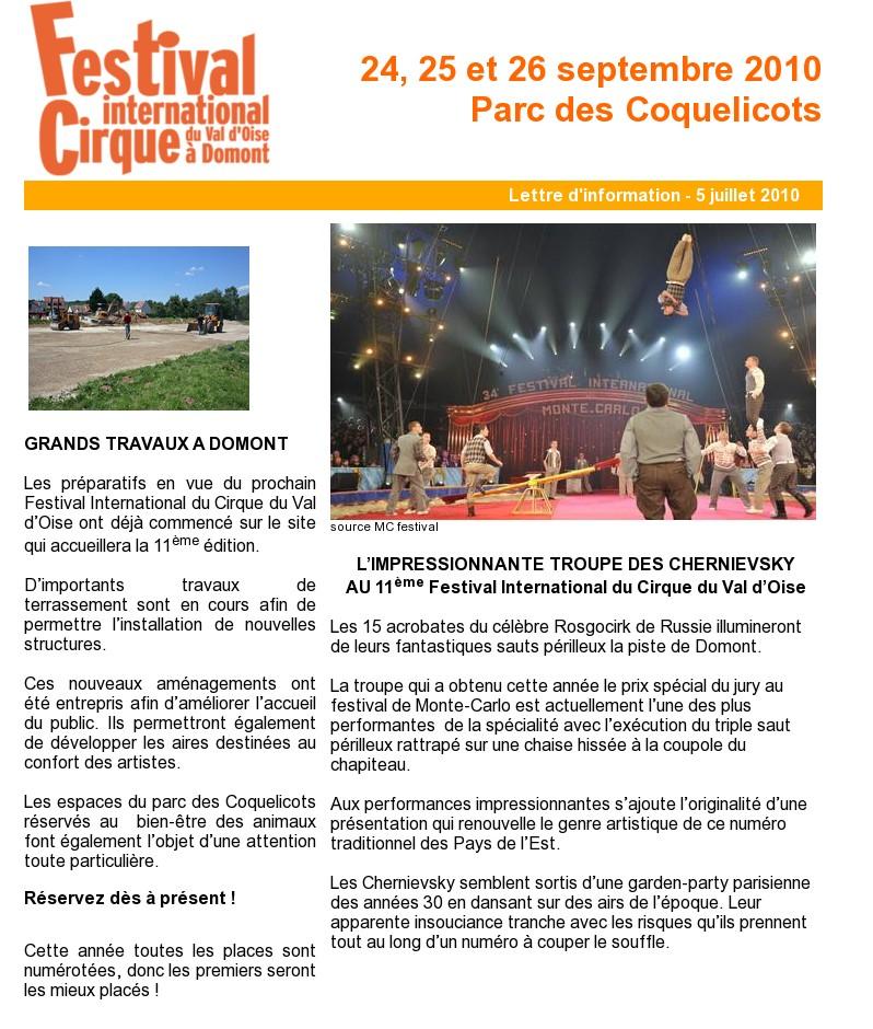 Burguscircus festival du val d 39 oise 2010 for Domont val d oise