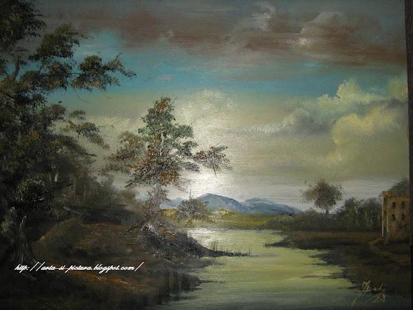 Toamna (pictura pe lemn)