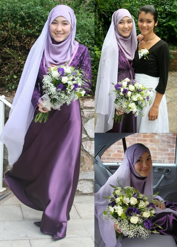 Muslim Wedding Bridesmaid Dresses : Islamic wedding dresses and ideas stylish purple for
