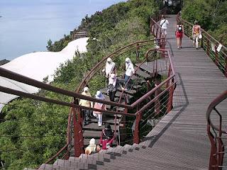Anak tangga di kereta kabel