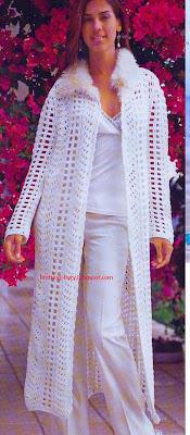 BAHARLIK uzun CEKET HIRKA örgü modeli Crochet long jacket