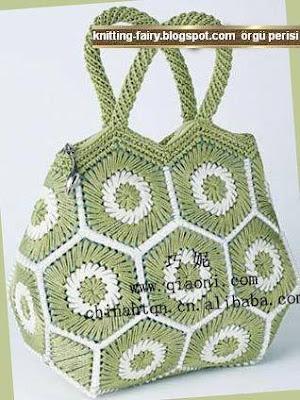 ÖRGÜ MODELLERİ Çantalar Machine knit