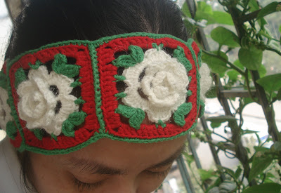 christmas crafts: crocheted headband, free crochet patterns