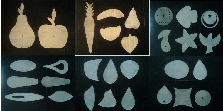 Moldes de Acrilico, depois criamos lindas peças na madeira