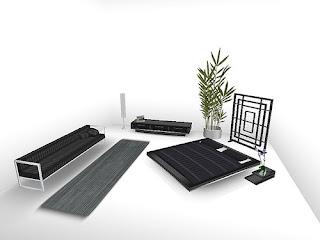 White and Black BedRoom Design