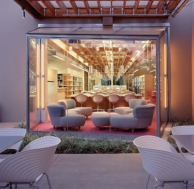 European House Style European Cool Modern Fashion Institute Colorful Campus Interior Design Ideas