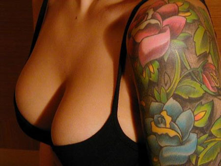 Hawaii, lotus, hibiscus, lilies, tropical popular tattoo. flower tattoo