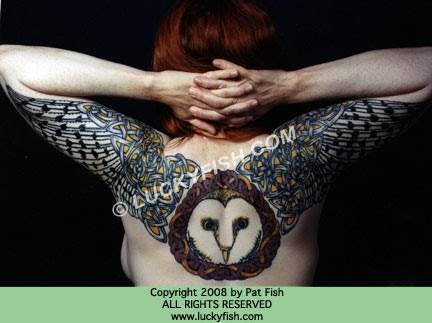 tattoo back pieces. Celtic Owl Tattoo Back Piece