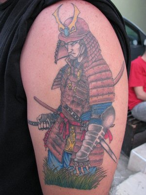Pochoir Tatouage Temporaire Unik Tattoo Samouraï Figuratif 38 - FR'O