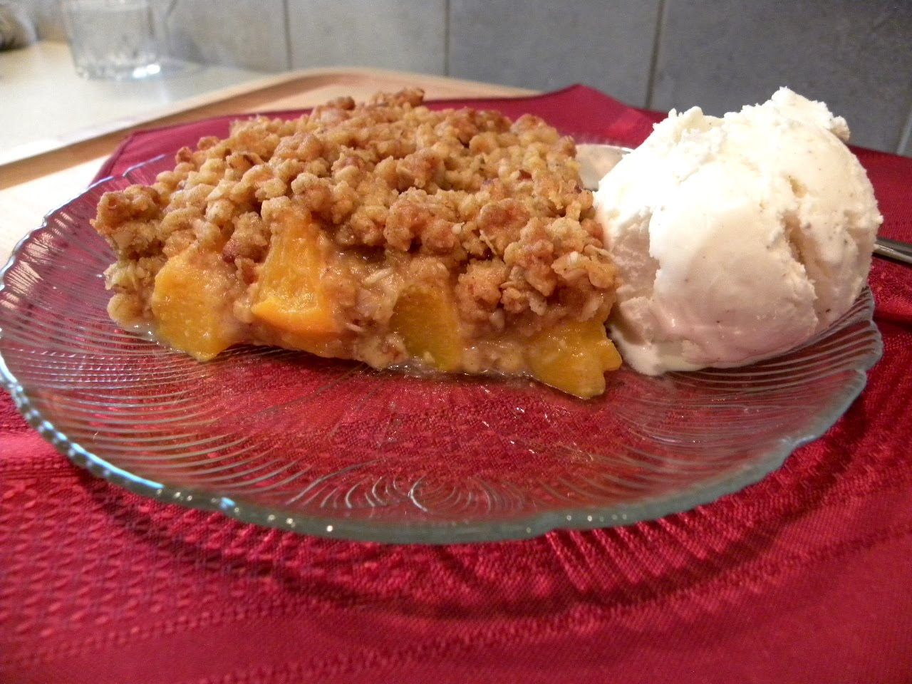 this recipe for peach crisp is so good and very simple to make it only ...