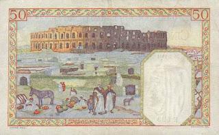 La monnaie (les billets) tunisienne à travers le temps Verso+50+francs+1941
