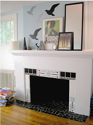 Fireplace Decorating: Firebox Paint
