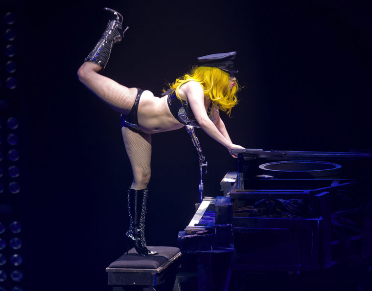 from Leonardo lady gaga panties and upskirts on piano