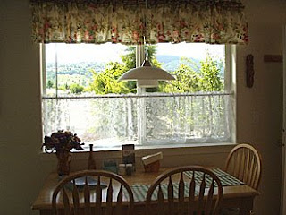 Sequim  Vacation Rental, View of Bell Hill from dining table