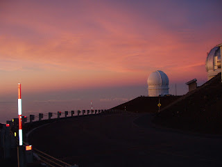 Sunset over Big Island at Mauna Kea Summit