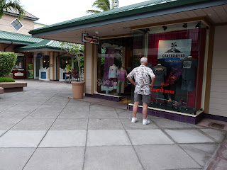 Keoki in front of Crazy Shirt Shop at Waikola Beach Resort