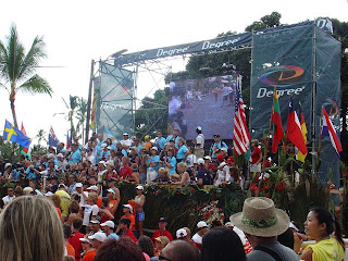 Finish line Kona Ironman photo 2005