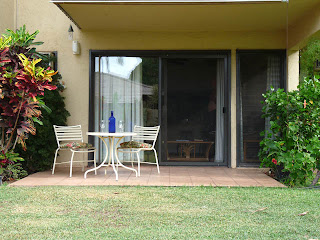 Lanai of our Maui condo in Kihei Garden Estates