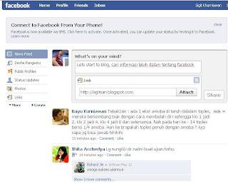 Tips cara pasang link di facebook sebagai promosi blog
