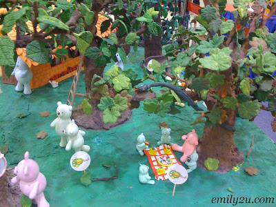 very detailed clay trees