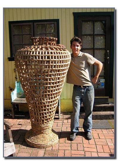 Мастер класс ваза из винных пробок