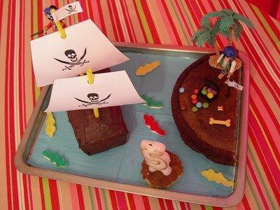 gateau d'anniversaire rigolo pirate