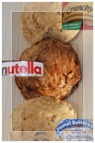 Peanut Butter, White Chocolate Peanut Butter, and Nutella Fillings